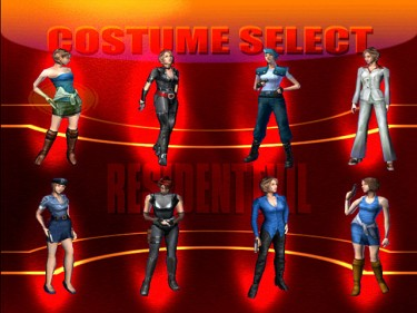 costume select dreamcast
